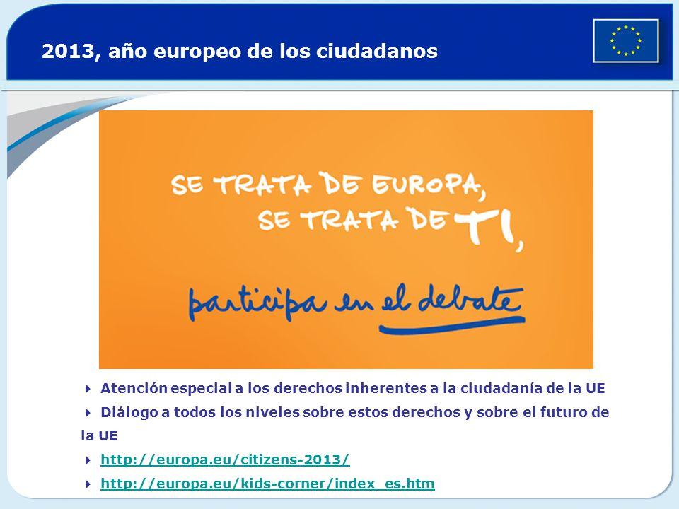 Atención especial a los derechos inherentes a la ciudadanía de la UE Diálogo a todos los niveles sobre estos derechos y sobre el futuro de la UE http: