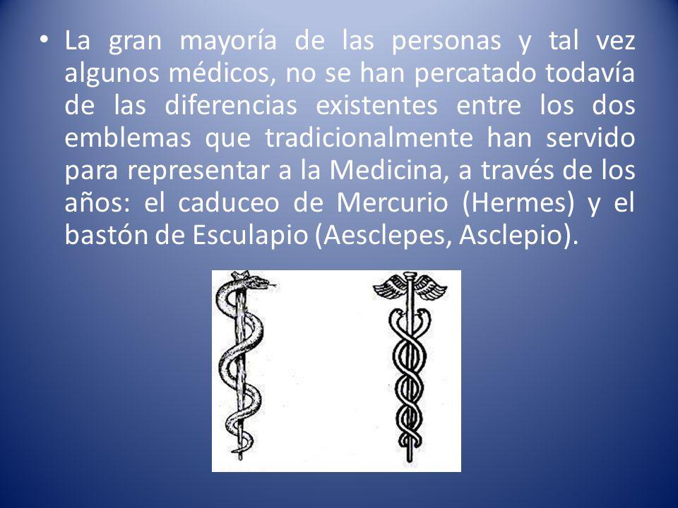 La gran mayoría de las personas y tal vez algunos médicos, no se han percatado todavía de las diferencias existentes entre los dos emblemas que tradic