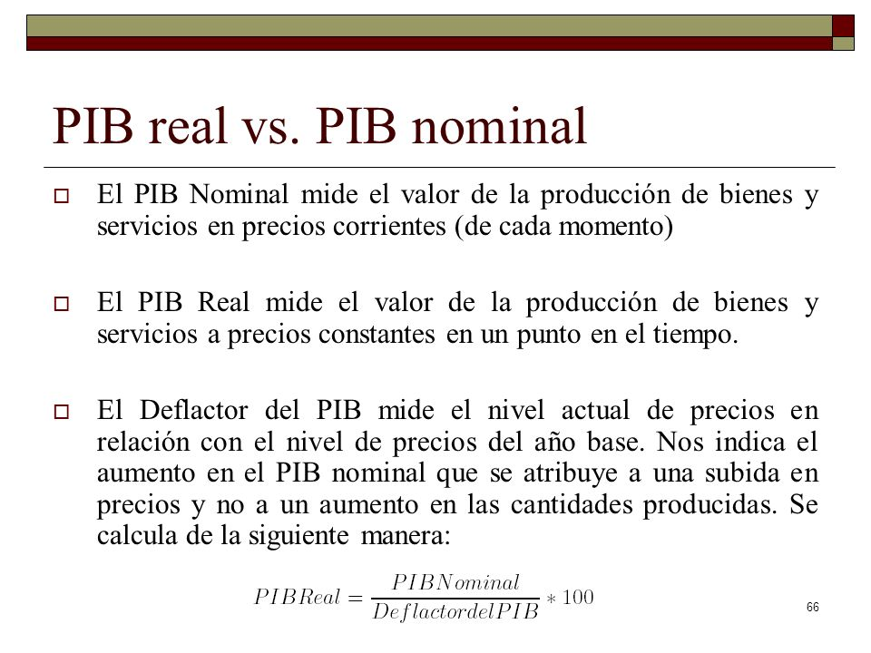 PIB real vs.