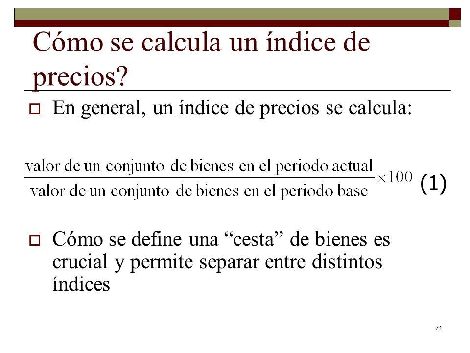 71 Cómo se calcula un índice de precios.