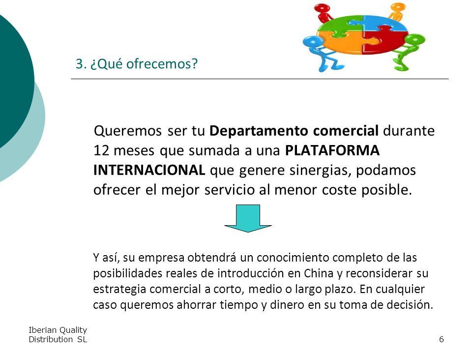 Iberian Quality Distribution SL6 3. ¿Qué ofrecemos.