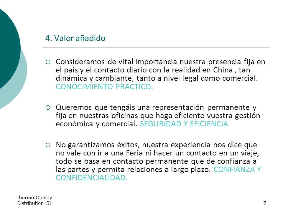 Iberian Quality Distribution SL7 4.