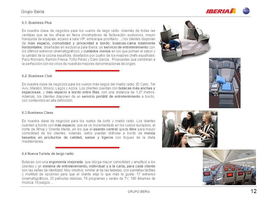 6.Nuestras clases 6.1. Business Plus Es nuestra clase de negocios para los vuelos de largo radio.