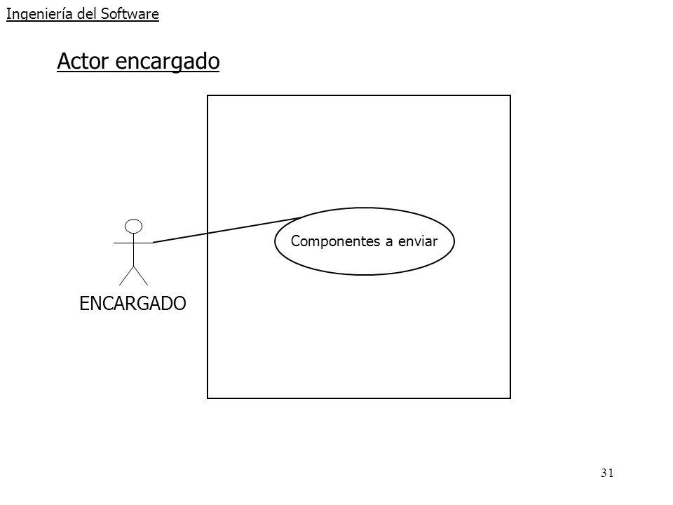 31 Ingeniería del Software Actor encargado ENCARGADO Componentes a enviar