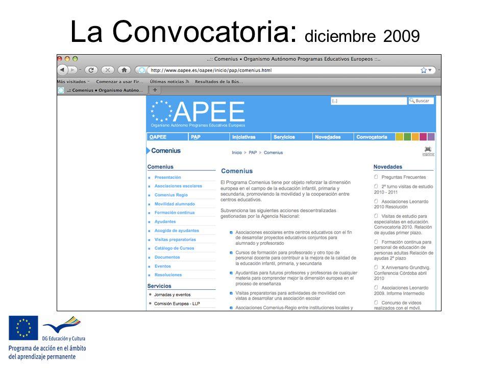 La Convocatoria: diciembre 2009