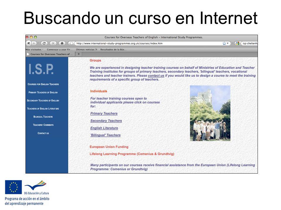 Buscando un curso en Internet