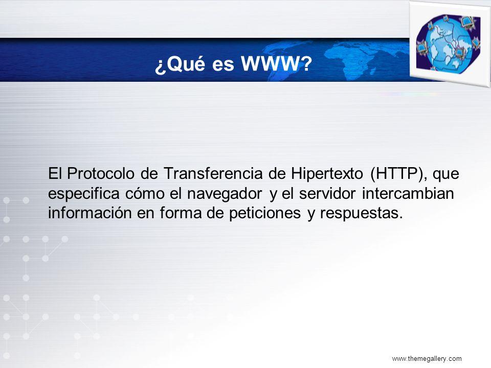 El Protocolo de Transferencia de Hipertexto (HTTP), que especifica cómo el navegador y el servidor intercambian información en forma de peticiones y respuestas.