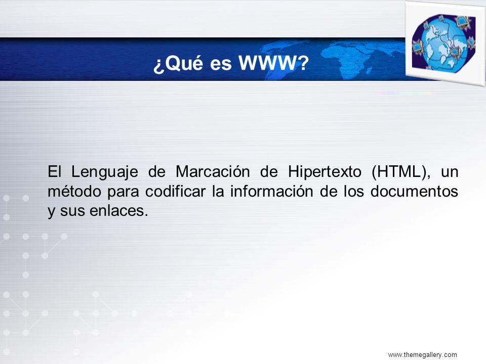 El Lenguaje de Marcación de Hipertexto (HTML), un método para codificar la información de los documentos y sus enlaces.