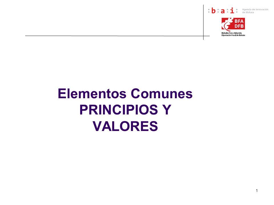 1 Elementos Comunes PRINCIPIOS Y VALORES