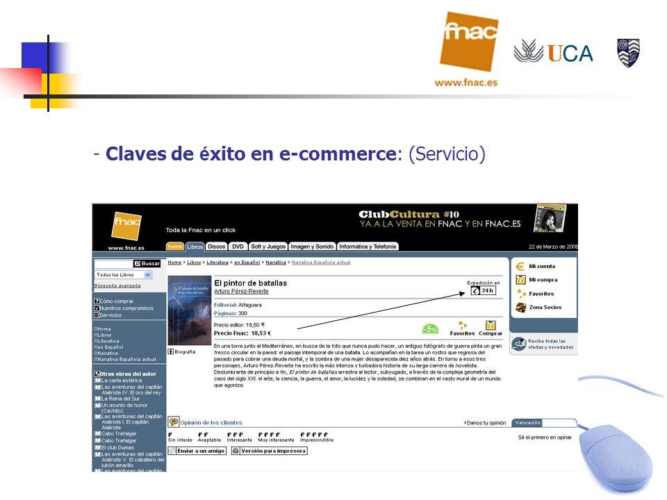 - Claves de é xito en e-commerce: (Servicio)