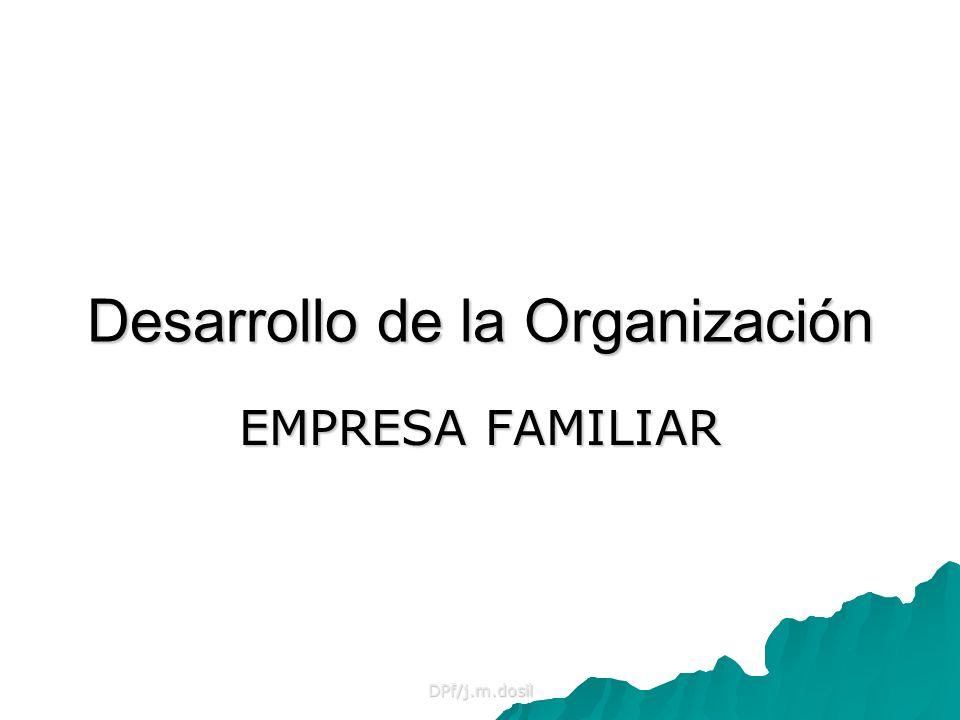 DPf/j.m.dosil Desarrollo de la Organización EMPRESA FAMILIAR