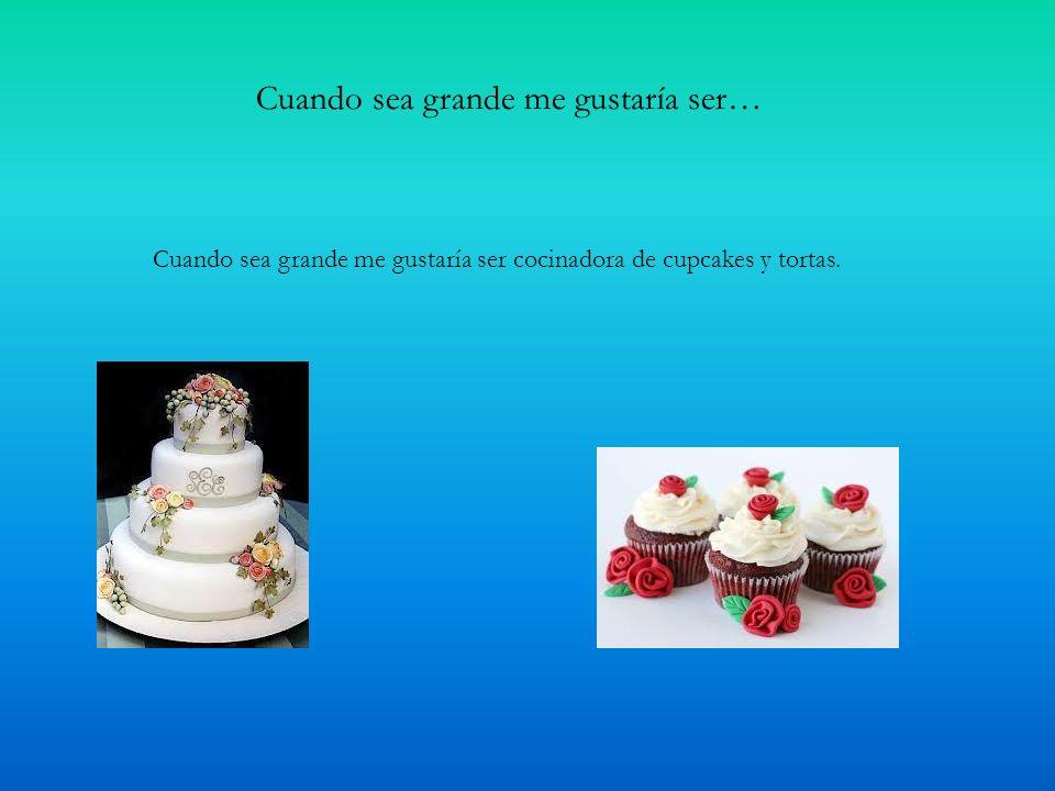 Cuando sea grande me gustaría ser… Cuando sea grande me gustaría ser cocinadora de cupcakes y tortas.
