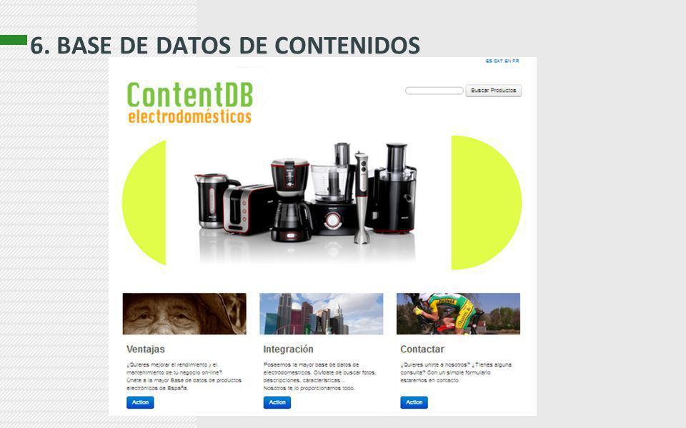 6. BASE DE DATOS DE CONTENIDOS