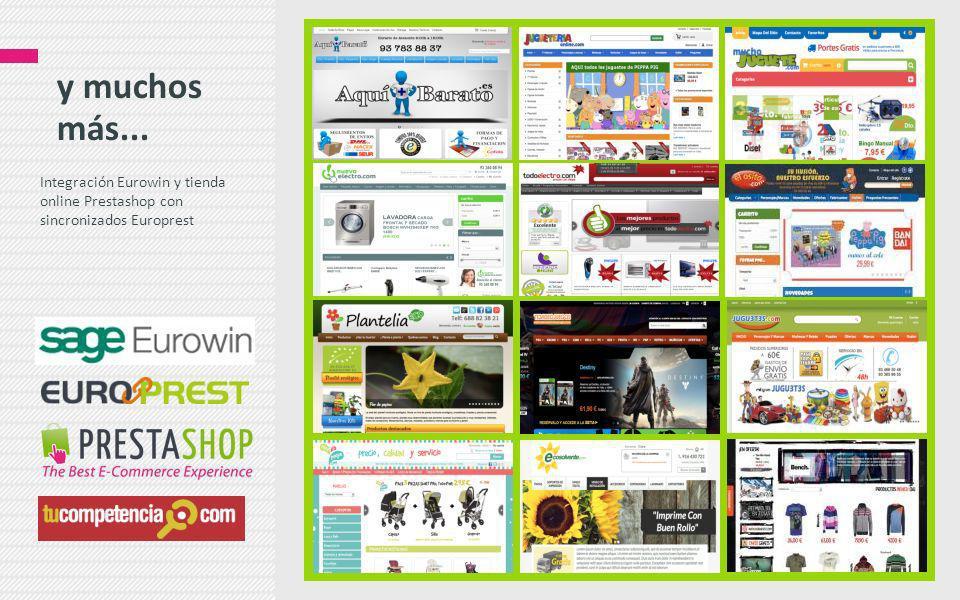 y muchos más... Integración Eurowin y tienda online Prestashop con sincronizados Europrest