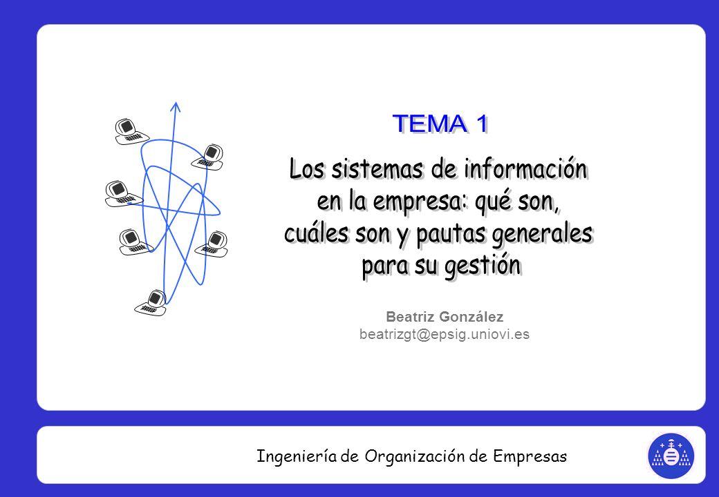 Ingeniería de Organización de Empresas Finanzas Funciones financieras y contables, para la gestión de datos y la generación de informes de soporte a la toma de decisiones.