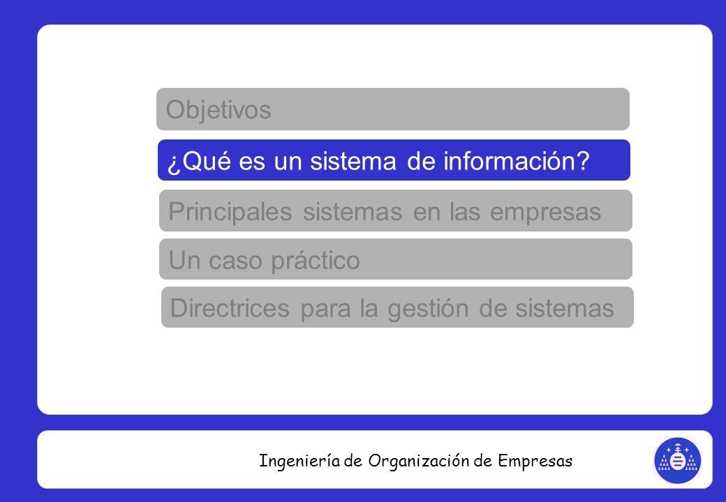 Ingeniería de Organización de Empresas Objetivos ¿Qué es un sistema ERP.