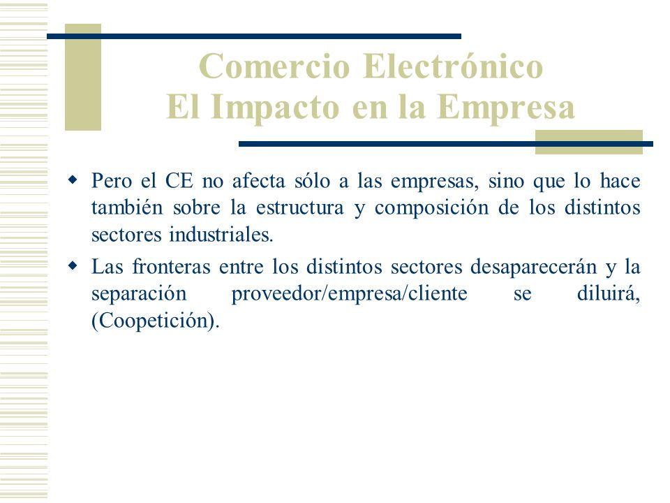 Apoyándose en el CE, las actividades físicas pueden ser sustituidas por operaciones virtuales (operaciones en Internet). De esta forma, conseguimos un