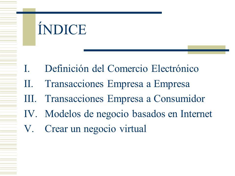 Comercio Electrónico El Impacto en la Empresa El Comercio Electrónico Empresa a Empresa es fundamentalmente una forma de concebir y gestionar un negocio.