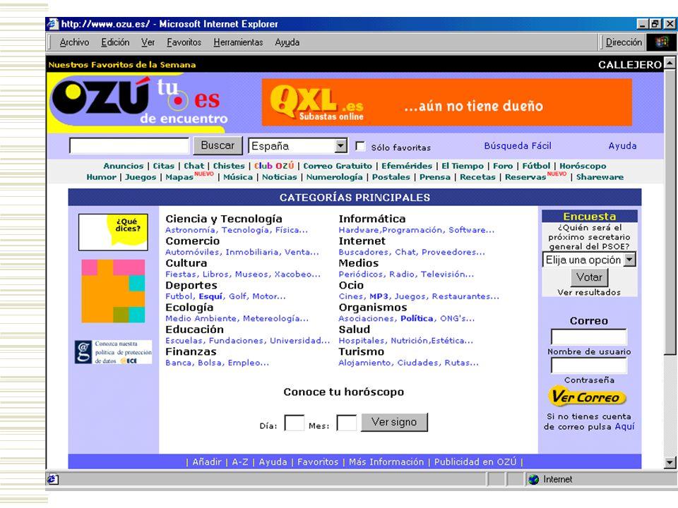 MODELOS DE NEGOCIO BASADOS EN INTERNET PORTALES Un portal es una sede web diseñada para ofrecer gran cantidad de contenidos y servicios a los usuarios finales (noticias, chats, email gratuito, buscadores de direcciones web, etc.).