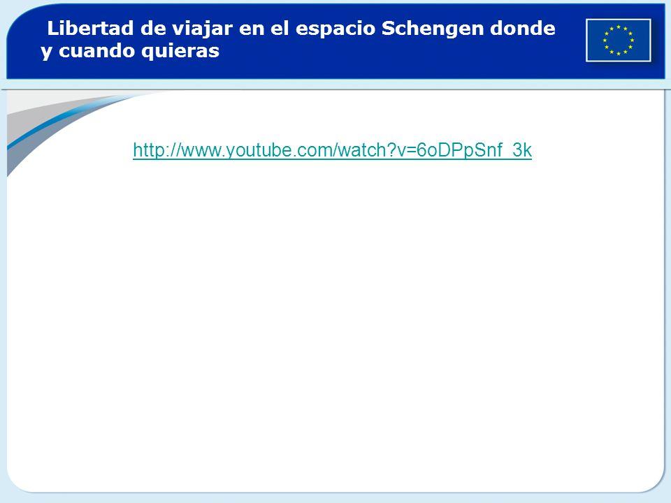 Libertad de viajar en el espacio Schengen donde y cuando quieras http://www.youtube.com/watch?v=6oDPpSnf_3k