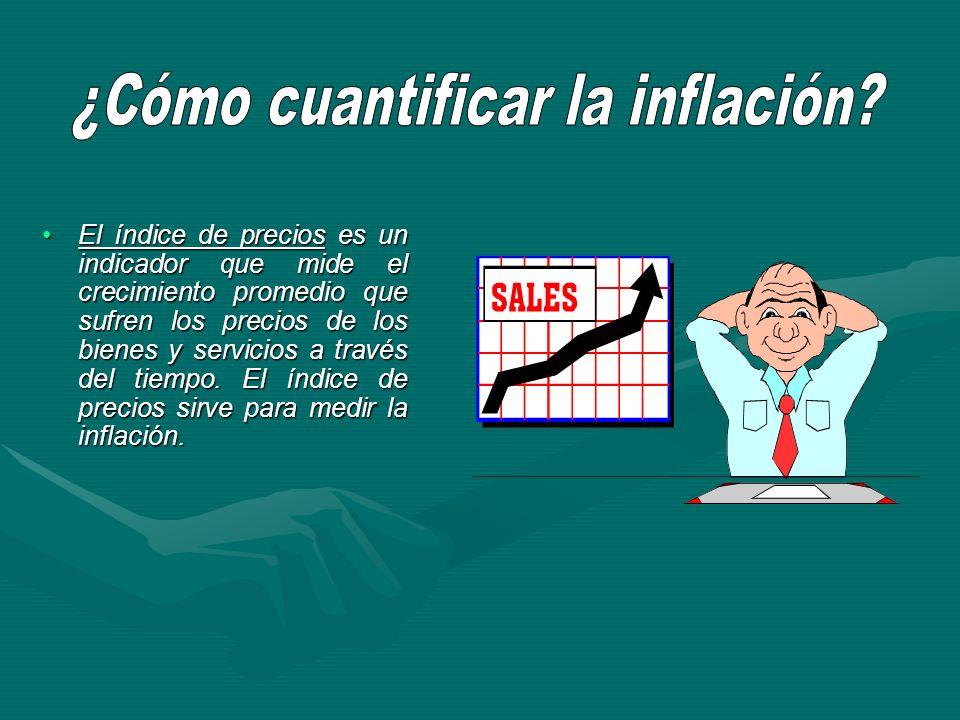 El índice de precios es un indicador que mide el crecimiento promedio que sufren los precios de los bienes y servicios a través del tiempo. El índice