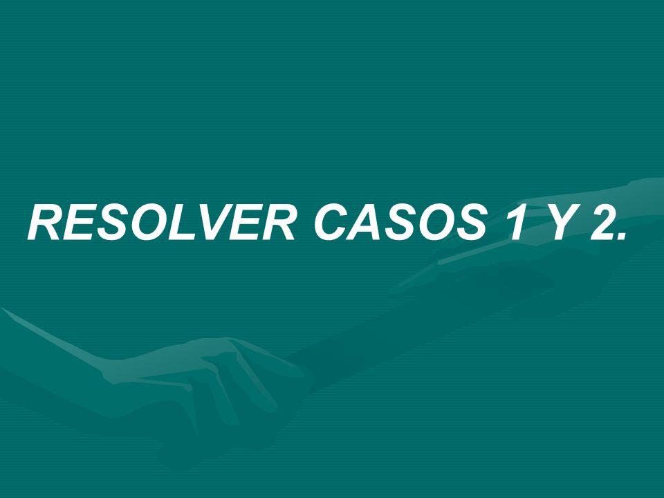 RESOLVER CASOS 1 Y 2.