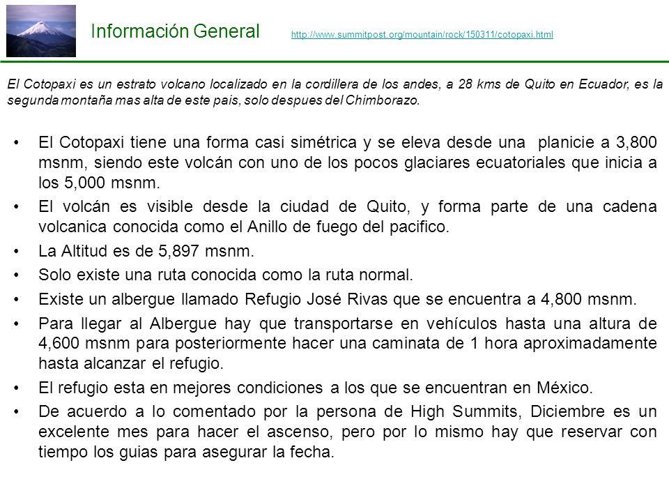Información General http://www.summitpost.org/mountain/rock/150311/cotopaxi.html http://www.summitpost.org/mountain/rock/150311/cotopaxi.html El Cotop