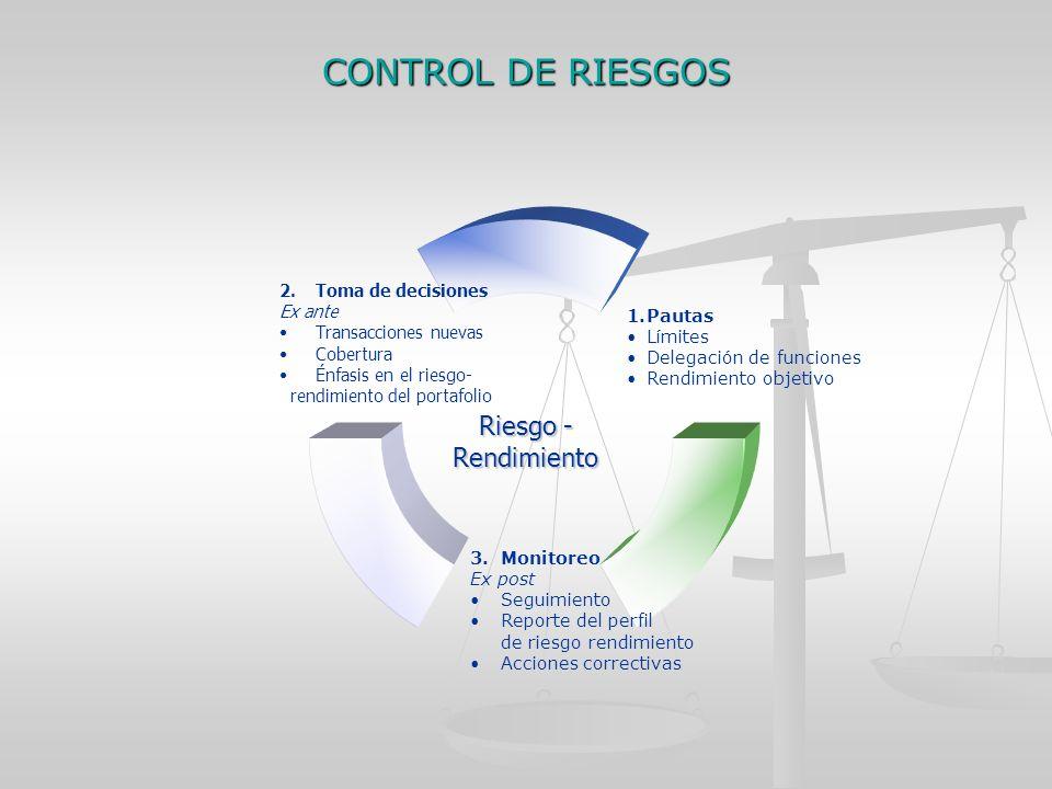 CONTROL DE RIESGOS Riesgo - Rendimiento