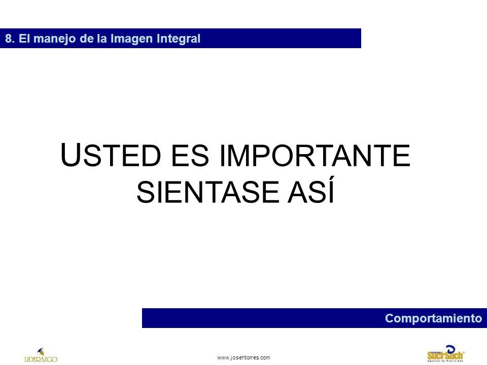 www.josehtorres.com 8. El manejo de la Imagen Integral Comportamiento ES DE MALA EDUCACIÓN: