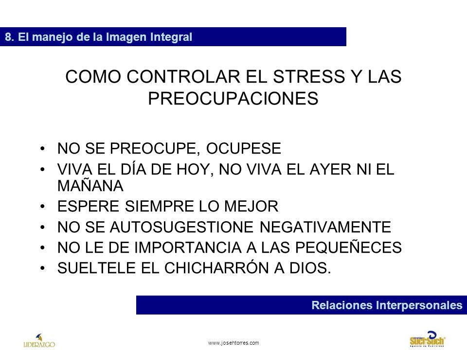 www.josehtorres.com COMO SOLUCIONAR PROBLEMAS 1.CUAL ES EL PROBLEMA.