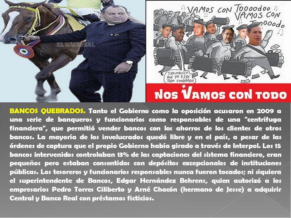 BANCOS QUEBRADOS. Tanto el Gobierno como la oposición acusaron en 2009 a una serie de banqueros y funcionarios como responsables de una