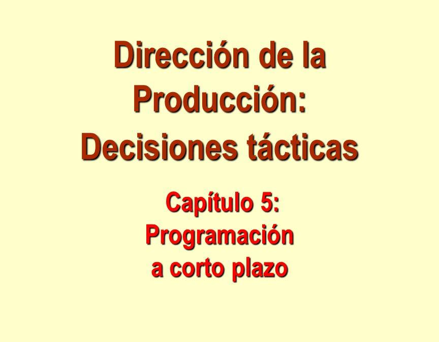 Asignación de tareas a centros de trabajo o de proceso.