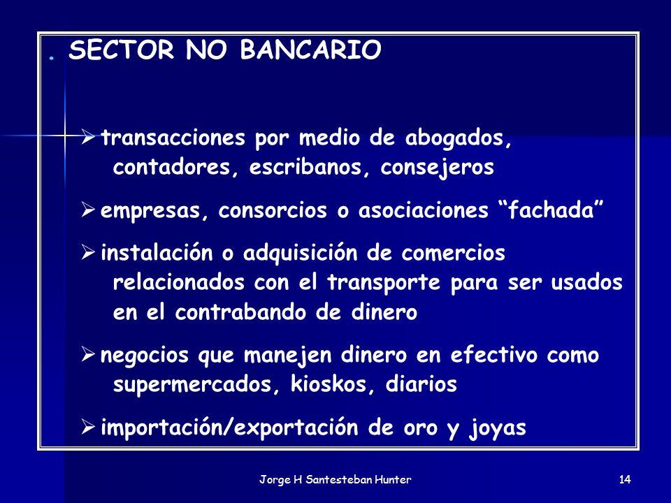 Jorge H Santesteban Hunter14. SECTOR NO BANCARIO transacciones por medio de abogados, contadores, escribanos, consejeros empresas, consorcios o asocia