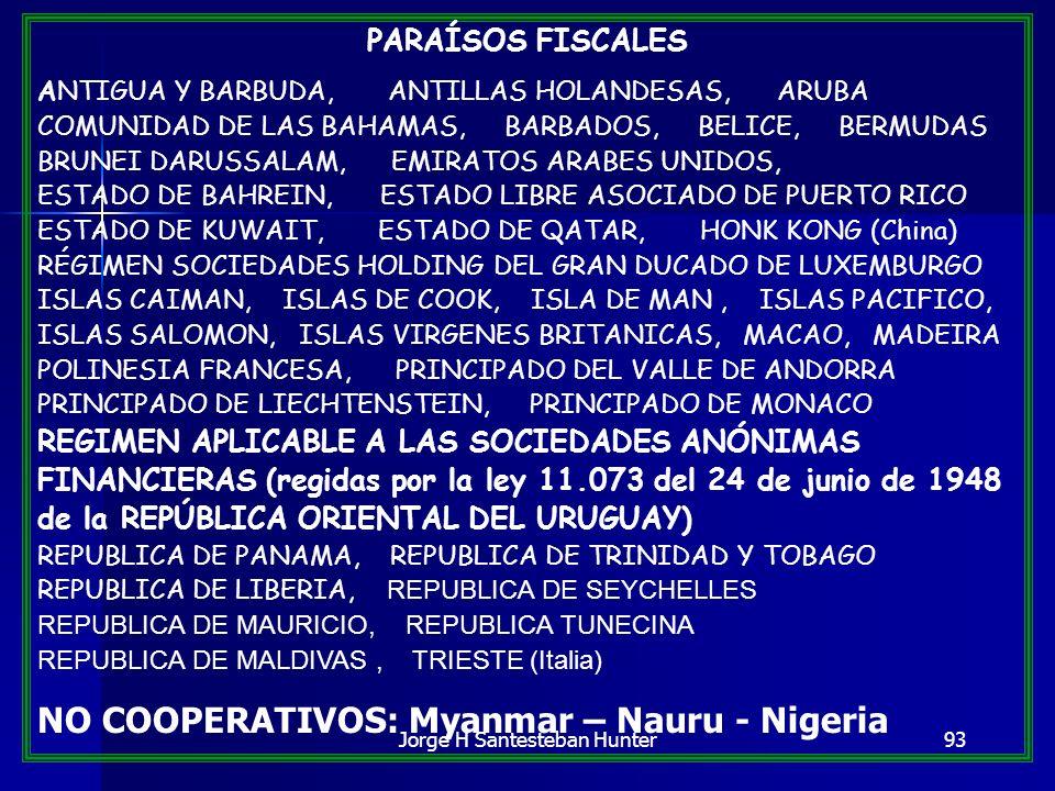 93 PARAÍSOS FISCALES ANTIGUA Y BARBUDA, ANTILLAS HOLANDESAS, ARUBA COMUNIDAD DE LAS BAHAMAS, BARBADOS, BELICE, BERMUDAS BRUNEI DARUSSALAM, EMIRATOS AR