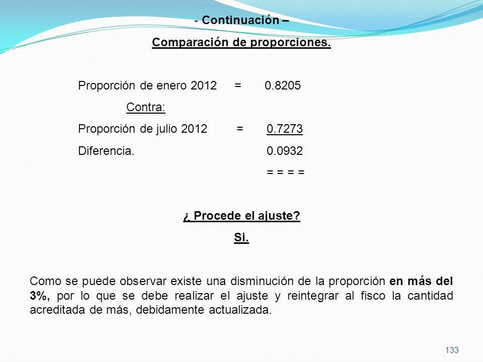 133 - Continuación – Comparación de proporciones.