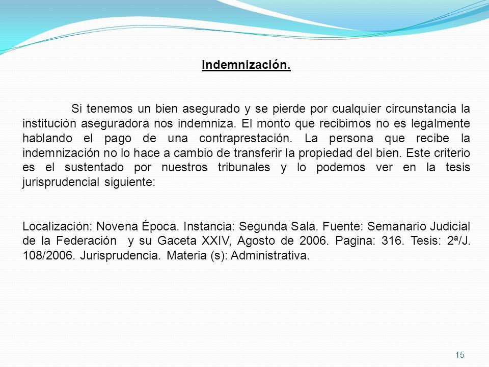 15 Indemnización.