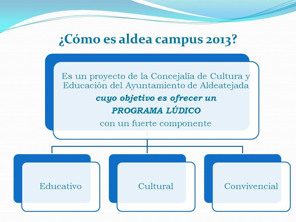 Es un proyecto de la Concejalía de Cultura y Educación del Ayuntamiento de Aldeatejada cuyo objetivo es ofrecer un PROGRAMA LÚDICO con un fuerte compo