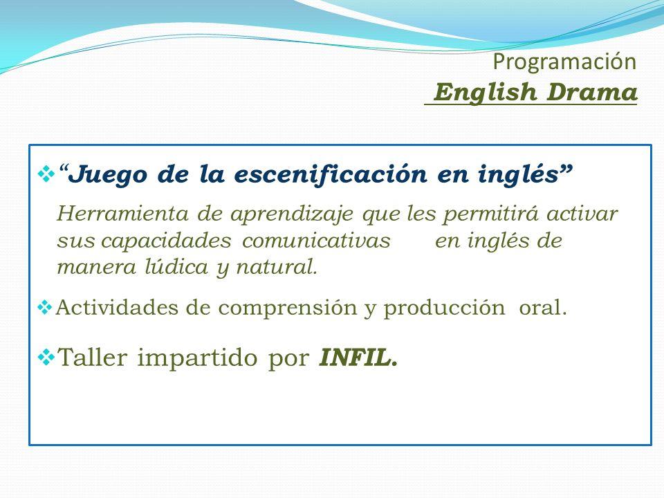 Juego de la escenificación en inglés Herramienta de aprendizaje que les permitirá activar sus capacidades comunicativas en inglés de manera lúdica y n