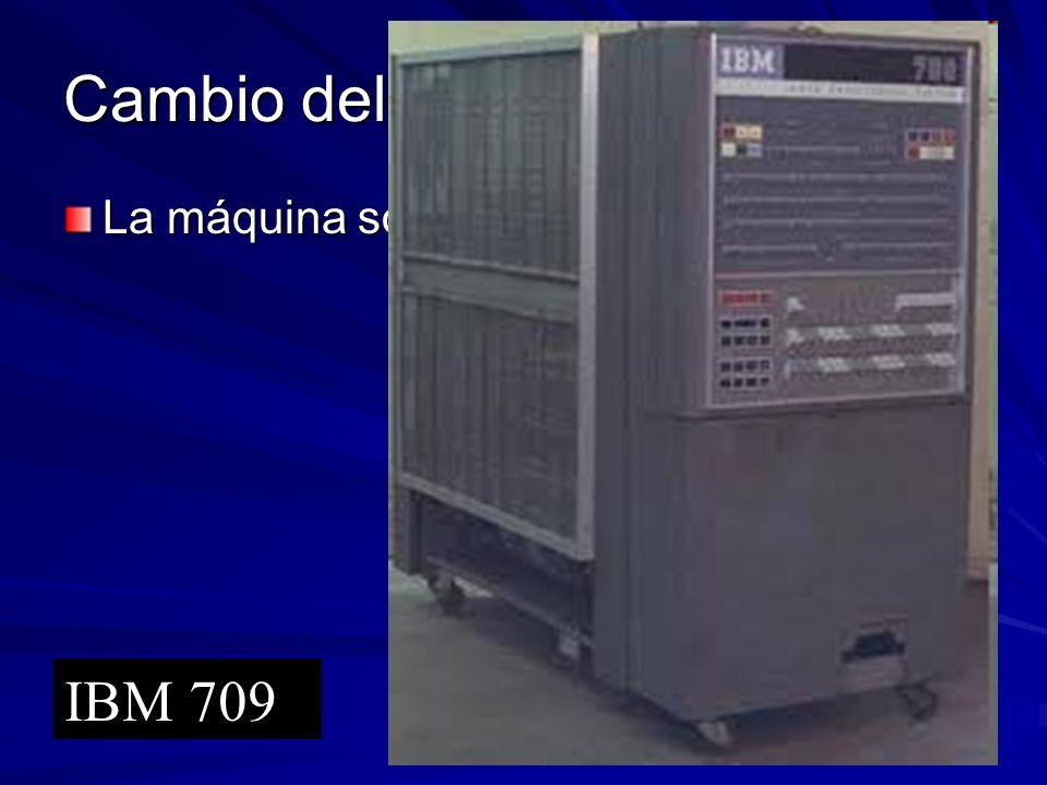 Cambio del modelo del cómputo La máquina sola. IBM 709