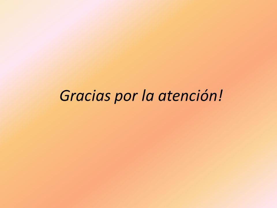 Gracias por la atención!