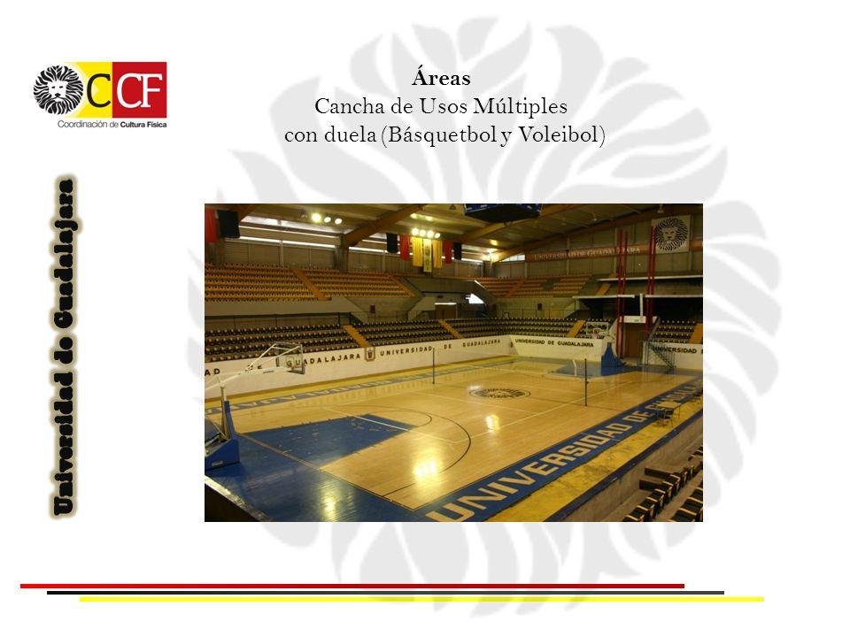 Áreas Cancha de Usos Múltiples con duela (Básquetbol y Voleibol)