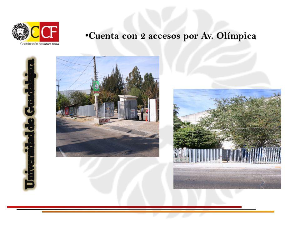 Cuenta con 2 accesos por Av. Olímpica