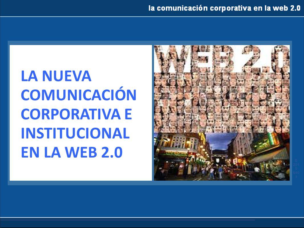 la comunicación corporativa en la web 2.0 Los perfiles corporativos en las RS multiplican la presencia de la empresa sin ser intrusiva Permite crear grupos de interés Permite realizar encuestas.