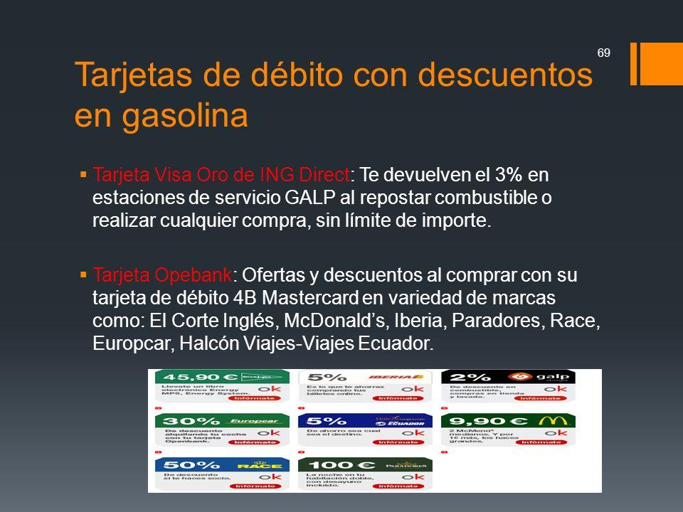 Tarjeta Visa Oro de ING Direct: Te devuelven el 3% en estaciones de servicio GALP al repostar combustible o realizar cualquier compra, sin límite de i