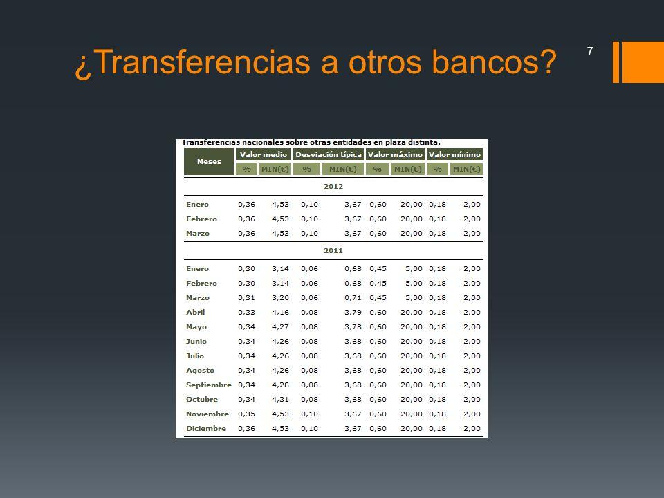 ¿Transferencias a otros bancos? 7