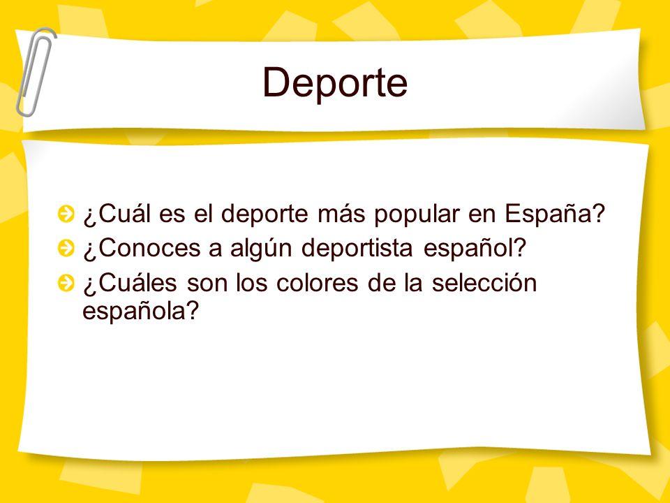 Deporte ¿Cuál es el deporte más popular en España.