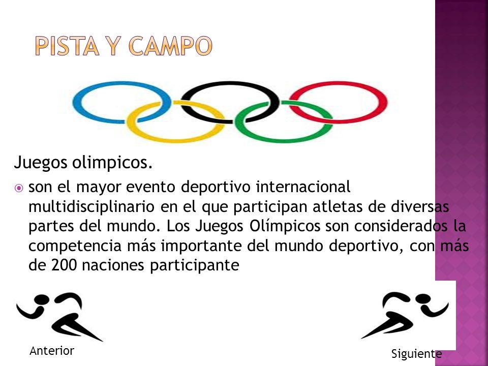 Juegos olimpicos. son el mayor evento deportivo internacional multidisciplinario en el que participan atletas de diversas partes del mundo. Los Juegos