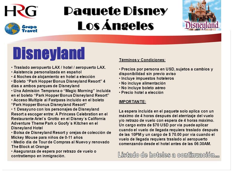 Disneyland Traslado aeropuerto LAX / hotel / aeropuerto LAX.
