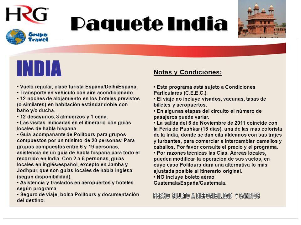 INDIA Vuelo regular, clase turista España/Delhi/España.