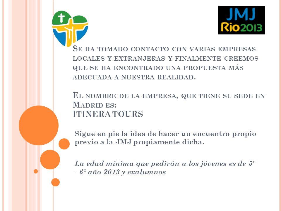 Agenda Oficial de la JMJ, 2013 (Basada en anteriores JMJ) DÍA 1° Y 2° en RIO DE JANEIRO DOMINGO, 21 DE JULIO / LUNES, 22 DE JULIO LLEGADA A RIO DE JANEIRO REGISTRO OFICIAL Los peregrinos registrados en la JMJ, deben acudir a recoger sus acreditaciones y mochilas en los lugares indicados por la organización, al finalizar día libre por la ciudad.
